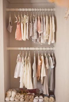 Baby closet organized by color!!! dreammmm