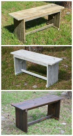 #Bench, #ReclaimedWood, #Rustic, #Seat