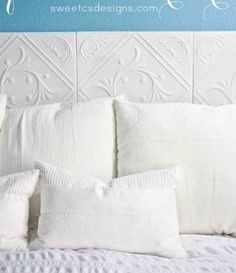 You do not have to change your entire bed in order to give it a makeover. Sometimes, all you need is to re-invent your headboard. Spend less and save more money by giving these 40 DIY bed headboard projects a shot for a quick bedroom makeover! Homemade Headboards, Headboards For Beds, Fabric Headboards, Cheap Home Decor, Diy Home Decor, Home Bedroom, Bedroom Decor, Master Bedroom, Bedrooms