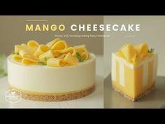노오븐~♪ 망고 치즈케이크 만들기 : No-Bake Mango Cheesecake Recipe : マンゴーレアチーズケーキ Mango Cheesecake, Easy Cheesecake Recipes, Cheesecake Bites, Dessert Recipes, Homemade Cheesecake, Classic Cheesecake, Mango Recipes, Sweet Recipes, Jelly Cake