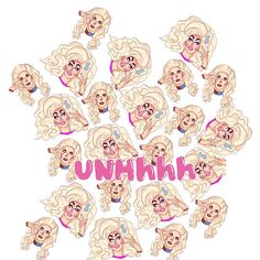 'Trixie and Katya-UNHhh' Poster by babydeadies Katya And Trixie Mattel, Rupaul, Art Forms, Chiffon Tops, Classic T Shirts, Minnie Mouse, Disney Characters, Fictional Characters, Iphone Cases