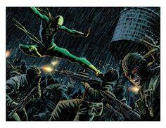 Iron Fist vs Hydra by David Aja