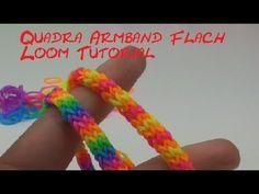 Loom Bands Armband *** breite Drachenschuppen *** mit Stiften (Anleitung deutsch) - YouTube