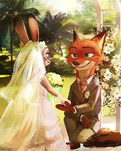 """kofee-cup: """" bluelightenterprises: """" A scene from either Zootopia 3 or Zootopia If 4 that means we'll have to wait about 12 years. Artist: 湯月 on Pixiv """" Precious """" yes Zootopia Anime, Zootopia Comic, Film D'animation, Film Serie, Cute Disney, Disney Art, Nick And Judy Comic, Studio Disney, Zootopia Nick And Judy"""