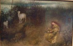 Matthijs Maris, De Geitenhoedster. 1875. Olieverf op doek