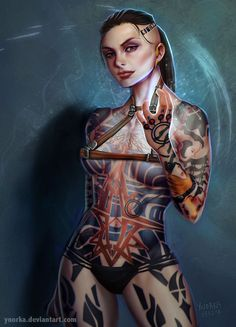 Mass Effect - Jack by ynorka on DeviantArt