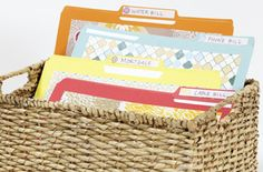 Organized Folder System  3 easy steps and downloadable labels to organize important documents.