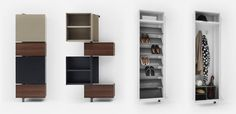 Space saving furniture: Giralot by Sculptures Juex, images Replacement Furniture Legs, Diy Furniture Easy, Space Saving Furniture, Wardrobes, Bookshelves, Woodworking Projects, Master Bedroom, Organize, Hanger