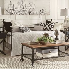 Wake up in sweet serenity each morning with this beautiful antique-style bed from Inspire Q. With its easy to match, versatile color, this bed is compatible with a variety of color schemes and decor. ...