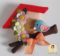 Sonhos de Mel 'ੴ - Crafts em feltro e tecido: °°Casa de Passarinho...
