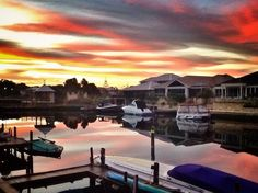 Sunset over Mandurah's canals  - gorgeous photo!  portsailscanalvilla.com.au