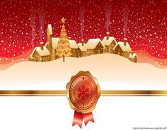 Winter Night Landscape With Christmas Village