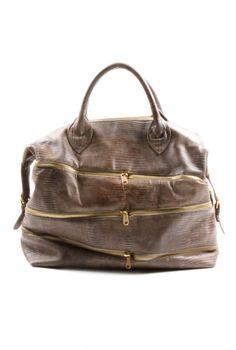 Shoptiques — Large Zipper Leather Bag