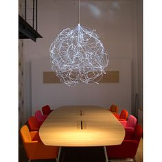 The Superstring light is made of fiberoptics, so it's like a weird hanging piece of art. It's available in a number of colors or with a color changer