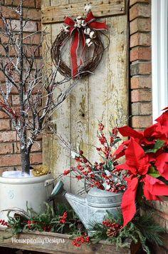 Christmas 2015 Front Porch/vintage wagon - Housepitality Designs