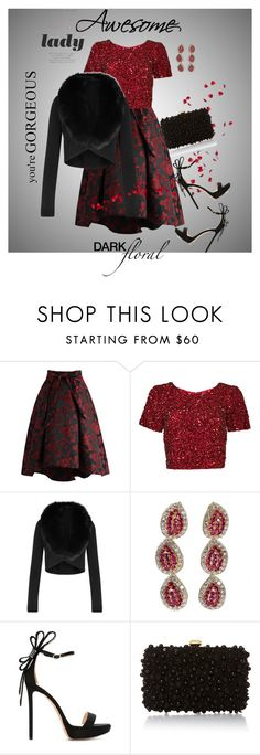 """Untitled #612"" by belinda54-1 ❤ liked on Polyvore featuring Chicwish, Parker, Alice + Olivia, Nicholas Kirkwood and Elie Saab"