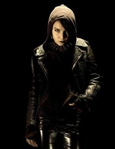 "Lisbeth Salander, played by Noomi Rapace, heroine of Stieg Larsson's award-winning ""Millennium"" series."