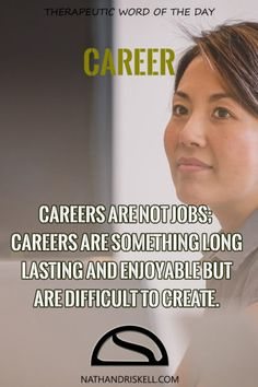 Careers take time to create. Often years of education and work go into them. If you are going to work for 50+ years, you might as well do something you love.  #careers #jobs #life nathandriskell.com