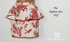 diy, fashion DIY,  skirt diy, gonna tulipano, volant,cucire,cloth diy, peplum skirt diy,  how to, tutorial, peplum skirt, s/s 2012, spring summer 2012,sew