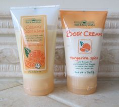 Bath & Body Works Mini Tangerine Spice Body Wash & Body Cream, late '90s