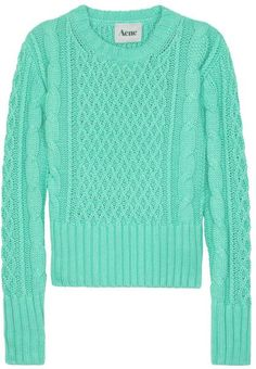 Lia Cable Knit Sweater - Lyst