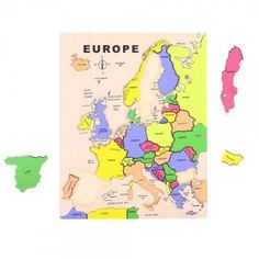 Układanka edukacyjna Mapa Europy - puzzle drewniane 27