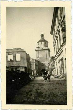 Lublin 1941 zniszczenia ulicy Bramowej i Rynku
