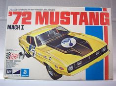 This car model kit was a recent find. Maybe you need this to add to your car/ racing collection or to display with other model kits. This 1972 Mustang Mach I was made by MPC (a division of General Mills). It appears complete and was not assembled. It includes the instructions, decals and the entry blank to win tickets to the INDY 500. It features Dan Gurney on the cover of the box and on the entry form. The box is intact and in good condition.  This is being sold AS FOUND. Please ask que...