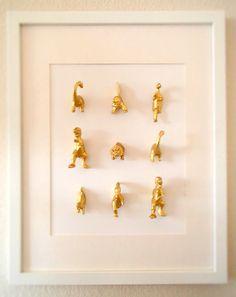 19 Genius Ways To Upcycle Your Child's Plastic Dinosaur Collection - Yahoo Parenting UK Ideas Habitaciones, Dinosaur Bedroom, Dinosaur Party, Girl Room, Kids Bedroom, Playroom, Room Decor, Wall Decor, Decoration