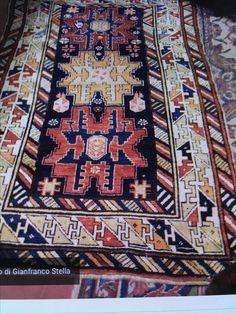 Shirvan tappeto antico Caucasico, epoca '800, misure 110x150 cm. c/a, buone condizioni.