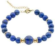 Anderson and Webb Blue Lapis Lazuli Gold Plated Bracelet 19cm with Extender Chain >>> Check out the image by visiting the link. #Bracelets