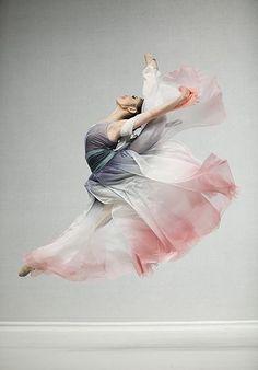 Beautiful grey and rose ombre chiffon costume