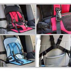 Useful Adjustable Portable Baby Child Infant Car Seat Safety Belt Harness New Unisex Blue Red China
