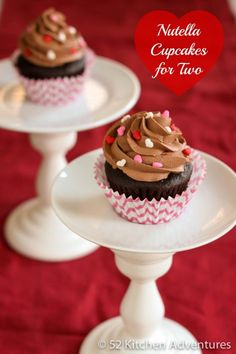 Nutella Cupcakes for Two from @Stephanie Nuccitelli (52 Kitchen Adventures)