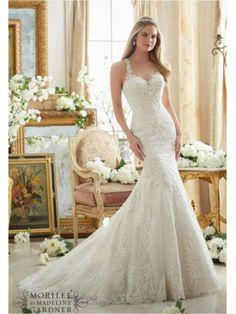 fit and flare scoop neckline mori lee 2876 wedding dress mori lee 2876 Mori lee