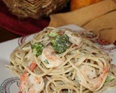 Angel Hair Pasta with Garlic Shrimp and Brocolli