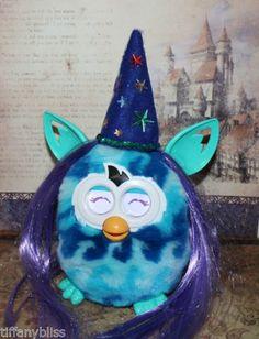 Fantastic Wizard Purple Hair Wig Costume For Furby or Furby Boom OOAK