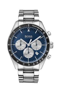 Browse our cutting-edge watches selection in the official HUGO BOSS online shop and discover watches from high-quality materials Hugo Boss Watches, Traje Casual, Herren Chronograph, Hugo Boss Man, Watch Model, Luxury Watches For Men, Stainless Steel Bracelet, Fashion Watches, Watch Bands