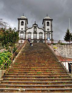 Beautiful church in Monte, just above Funchal. Nossa Senhora do Monte church, Funchal, Madeira island