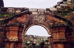 Vista de las ruinas de la misión jesuítica de San Ignacio Miní en la provincia de Misiones, Argentina.