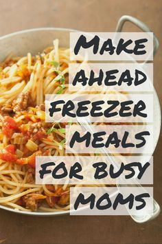 Make ahead freezer meals for busy moms. Make Ahead Freezer Meals, Healthy Meals To Cook, Healthy Crockpot Recipes, Healthy Cooking, Slow Cooker Recipes, Healthy Dinners, Easy Meals, Healthy Eating, Crockpot Meals