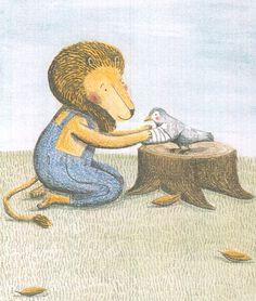 El león y el pájaro. Marianne Dubuc