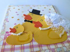 H Marianne Design, Ducks, 3 D, Cards, Maps, Playing Cards