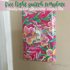 Free Light Switch Cover Template for Silhouette Studio crafters - and the trick to making your own templates Silhouette Nails, Silhouette School, Silhouette Curio, Silhouette Cameo Machine, Free Silhouette, Silhouette Cameo Tutorials, Silhouette Projects, Vinyl Crafts, Vinyl Projects