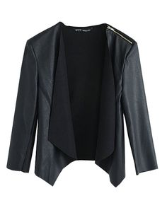 Simple Style Leather Splicing Coat