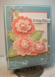 """by Vicki Burdick...It's a Stamp Thing. Stampin' Up! SU **** Stamp set: SU """"Array of Sunshine"""" 2011-12 Hostess stamp set, retired."""