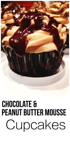 Chocolate and Peanut Butter - one of the best flavor combinations of all-time. These cupcakes are easy and always a hit   thehungrytravelerblog.com