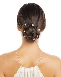 Wedding Hairstyles Jennifer Behr Perla Bobby Pins, Set of 7 - Jennifer Behr Perla set of seven bobby pins. Made in USA of imported materials. Trending Hairstyles, Boho Hairstyles, Headband Hairstyles, Bridal Hairstyle, Bridal Updo, Updo Hairstyle, Black Hairstyles, Hairstyle Ideas, Hair Ideas