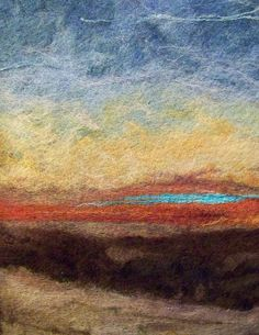 #686 Sunset One  by Deebs Fiber Arts, via Flickr
