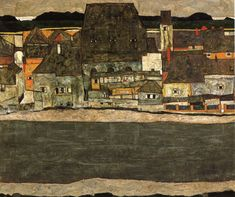Houses by the River II (also known as The Old City II), 1914, Museo Thyssen-Bornemisza  (Spain - Madrid)
